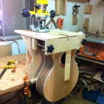 Routing neck mortise